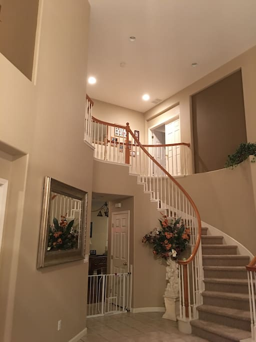 Entryway to upstairs room