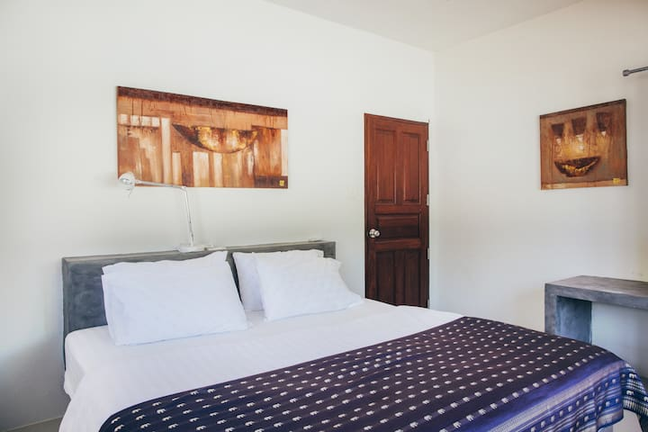 Air conditioned double bedroom with King size bed
