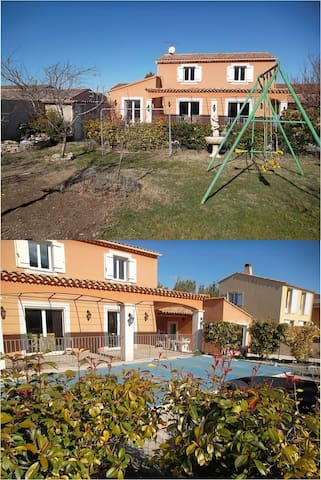 Belle villa avec piscine, jardin clos 3 ch 6 pers