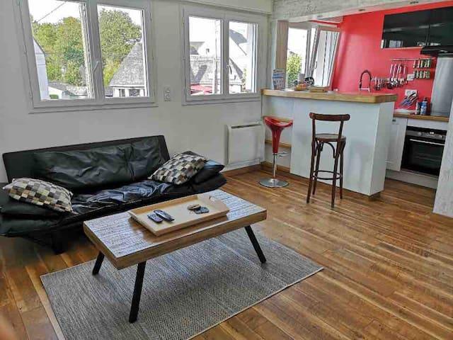 Appartement tout équipé à 50 mètres des plages