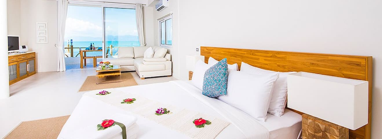 B1 Beachfront Apartments - Violet Suite, Bophut