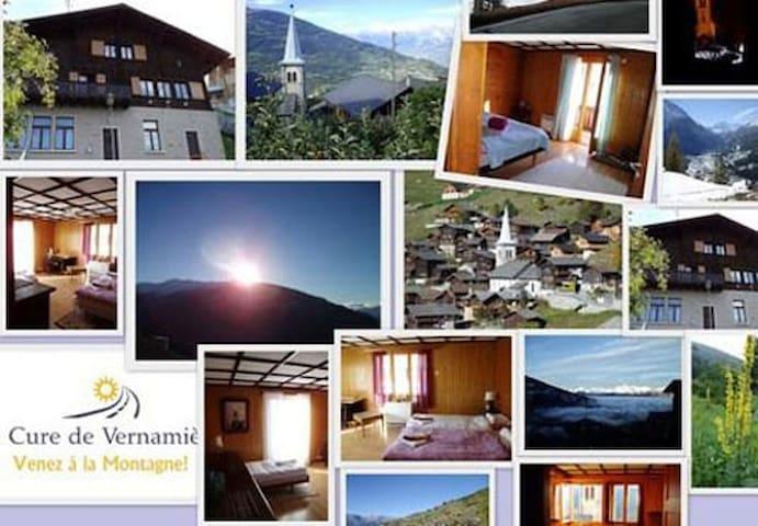 La Cure de Vernamiège - Venez à la Montagne ! - Vernamiège - Guesthouse