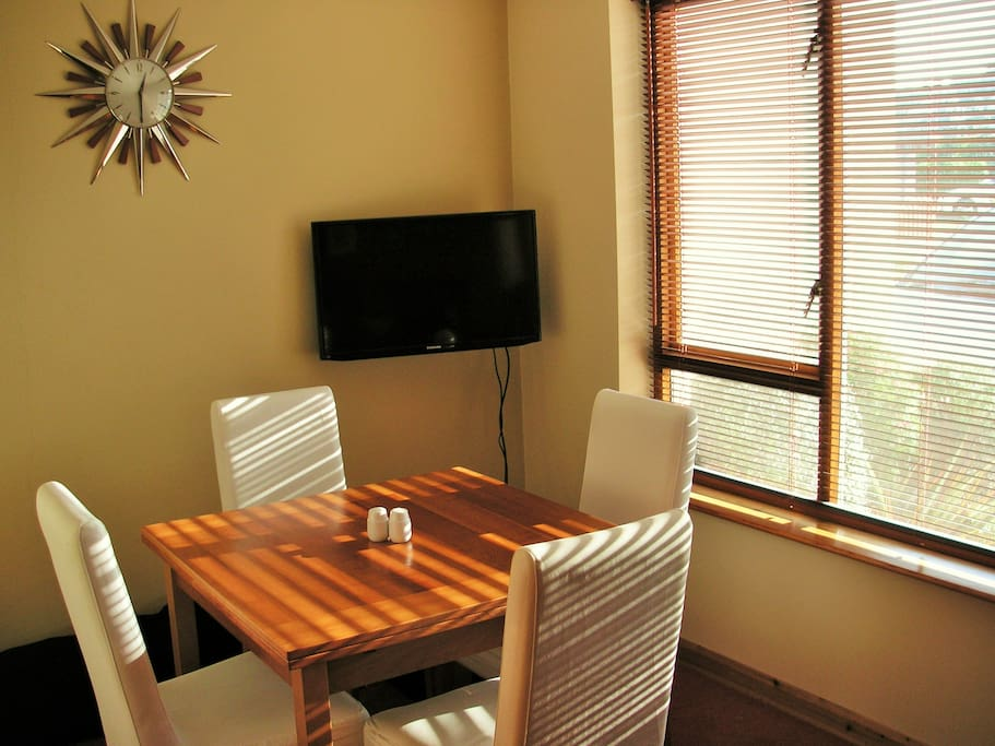 Dining room is available for your use