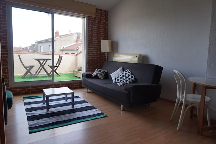 T2 / clim / terrasse / parking - Albi - Apartment