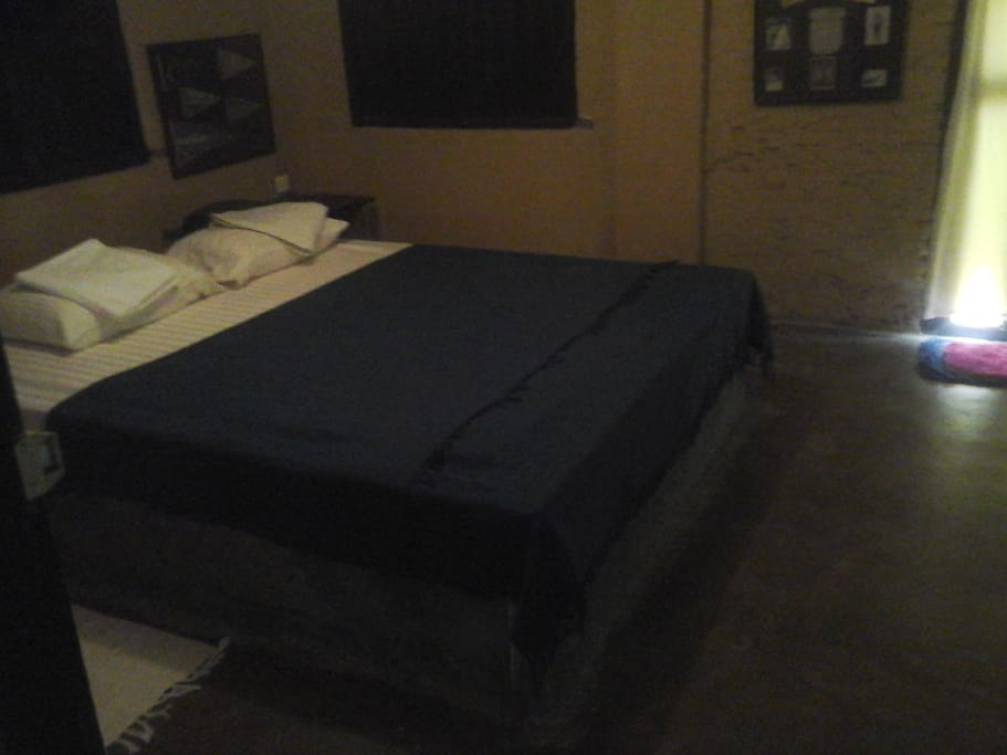 Master bed room with AC and attached toilet