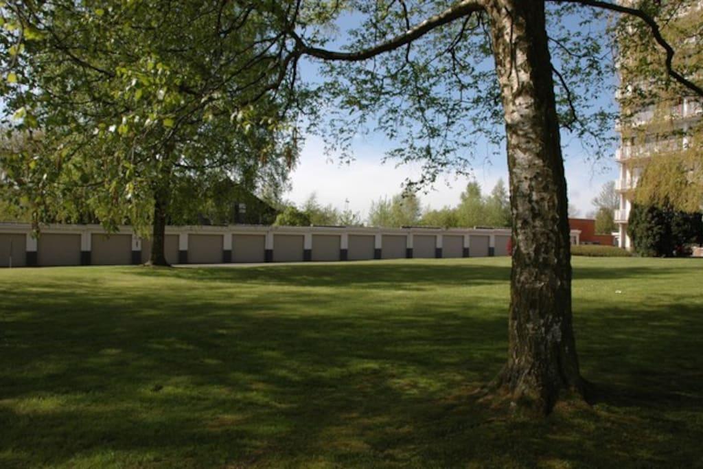 Parc privatif au sein de la propriété