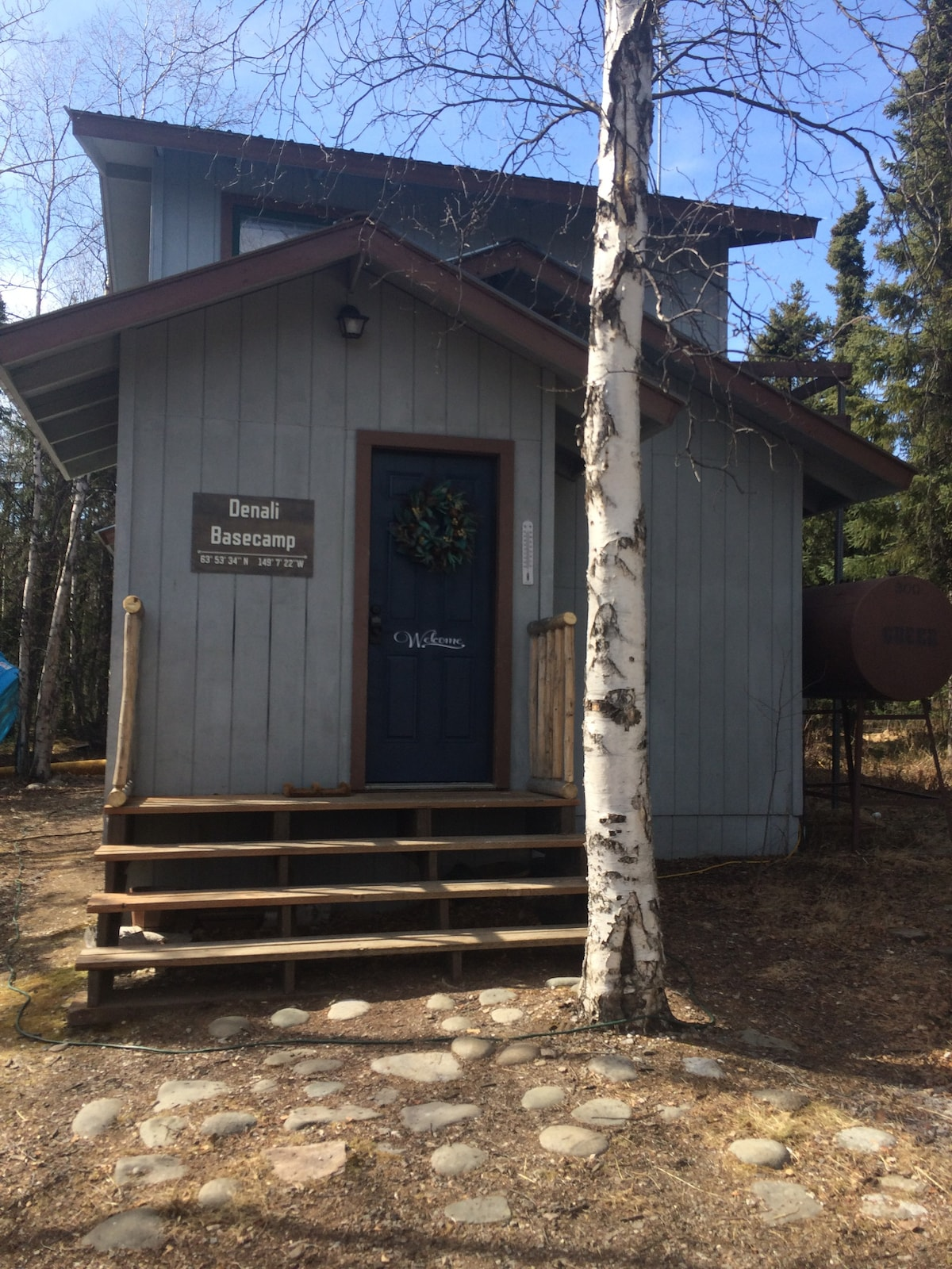 Quiet Cabin By Denali,Full Kitchen,No Cleaning Fee   Cabins For Rent In  Healy, Alaska, United States