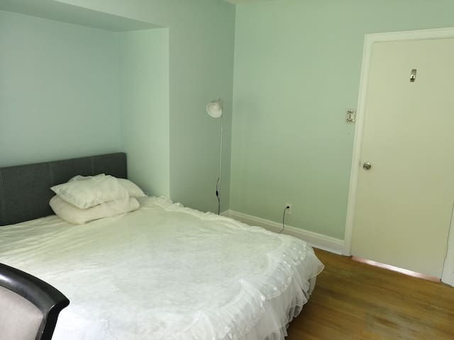big cozy bedroom at second floor share washroom