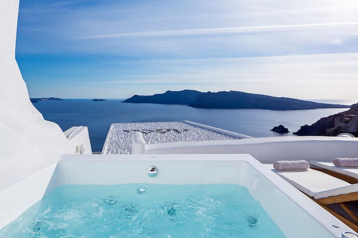 Aegean Magic, Jacuzzi with sea view & mini pool