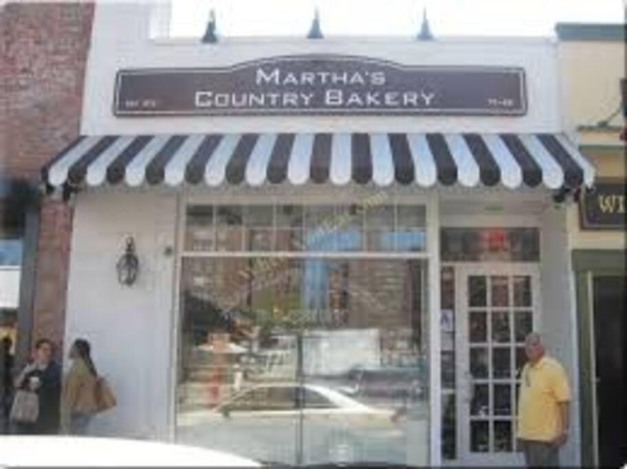 Martha's amazing Bakery just two blocks away!