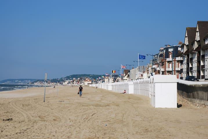 Notre superbe plage avec ses marées!