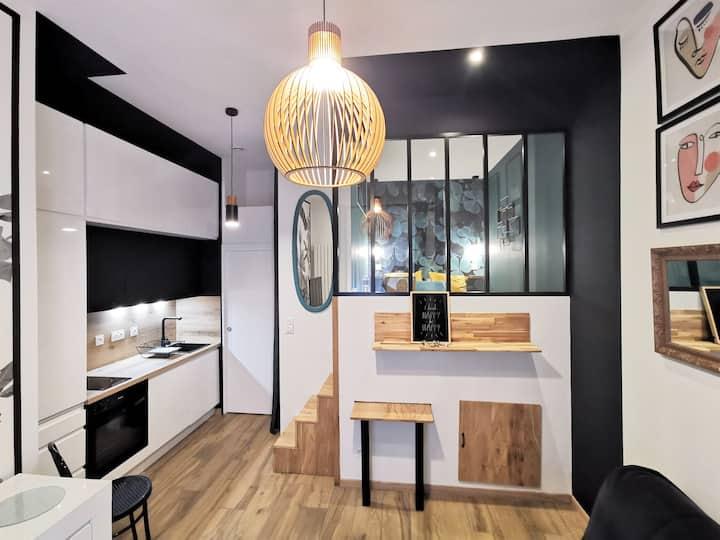 """Studio """"Le trèfle"""" à 150 m du métro Gare d'Oullins"""