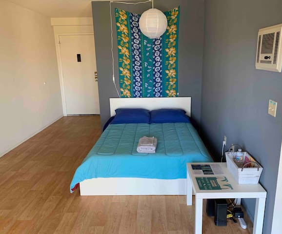 Queen Bed in Living Room by UCSD