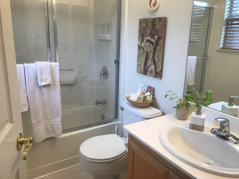 You have your own bathroom connected to your bedroom. Private and not connected to any room except yours.