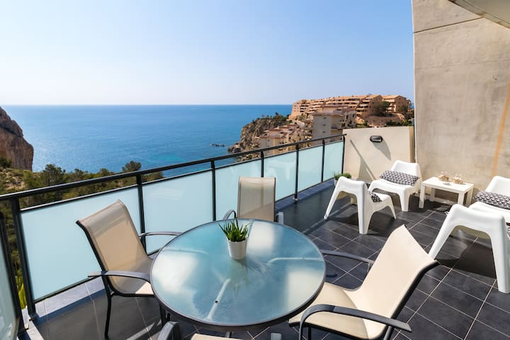 Peaceful house with stunning sea views in Mascarat - Calp - Huis