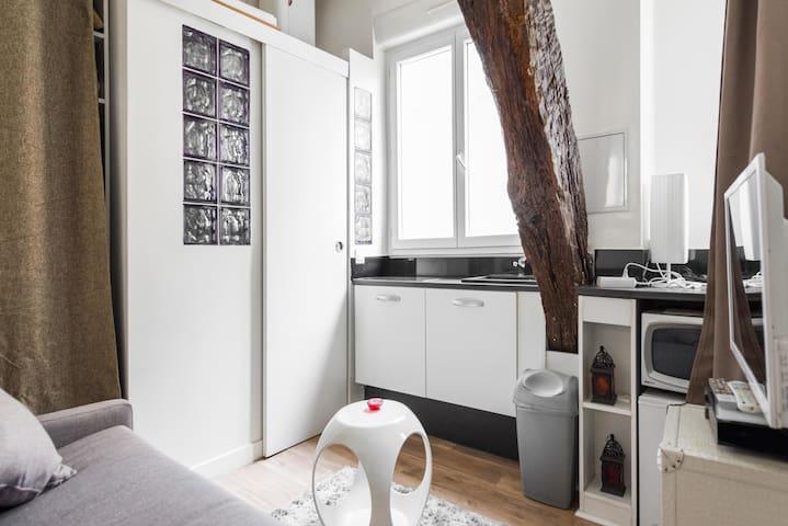 Beau studio au cœur du marais - París - Departamento