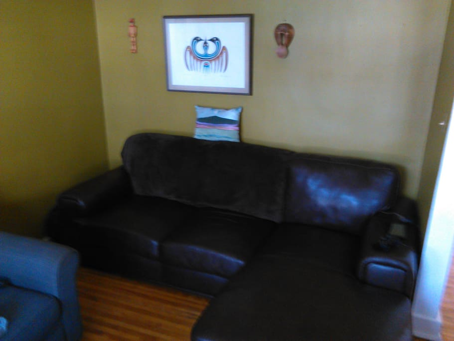 Comfortable living room available to you anytime of the day or night.