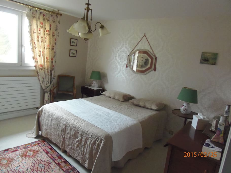 Chambre calme et confortable bed and breakfasts en for Chambre calme en anglais