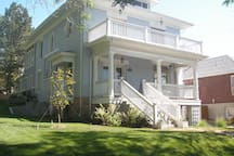 1903 American Four Square in the Historic District of SLC.  The room is on the 2nd floor, right corner.