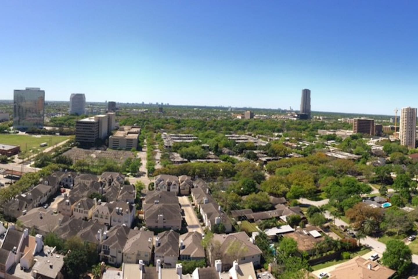View from the patio of the apartment! 20th floor view:) all you need is the wine!