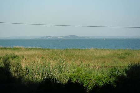 Panoramic view of Balaton from bed - Balatongyörök