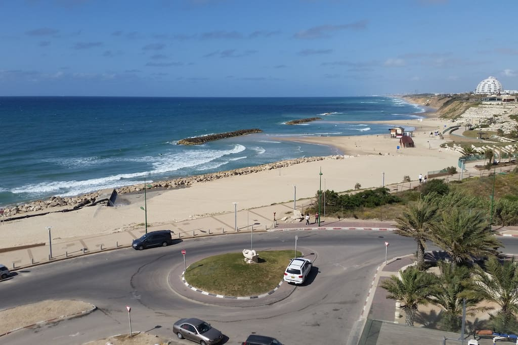 Ashkelon beach right outside