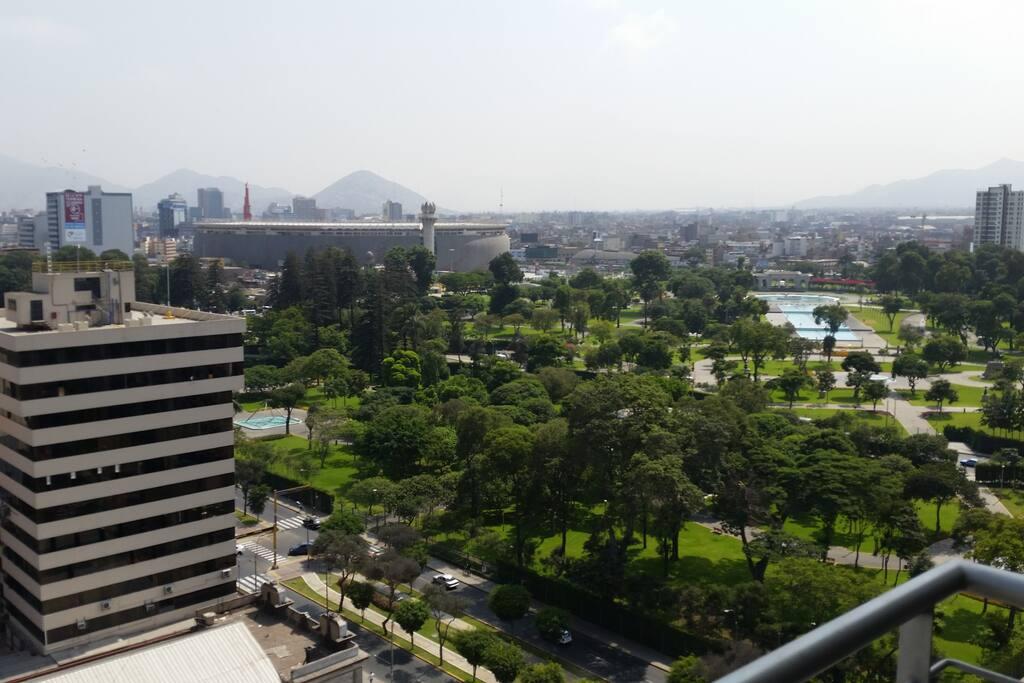 magnifica vista de stadio y parque de aguas