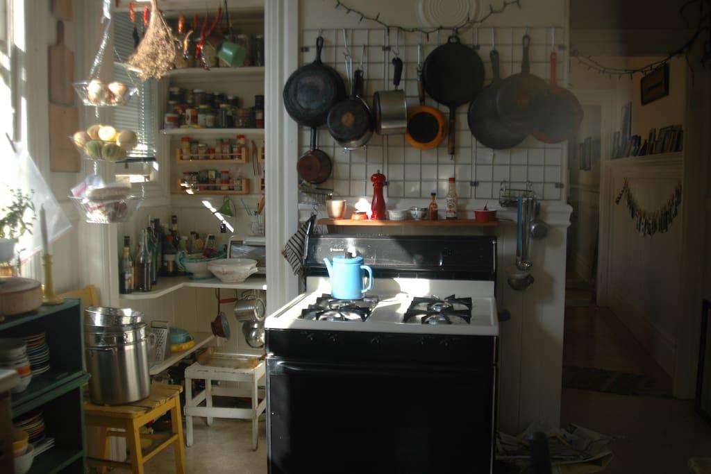 Our cozy kitchen.