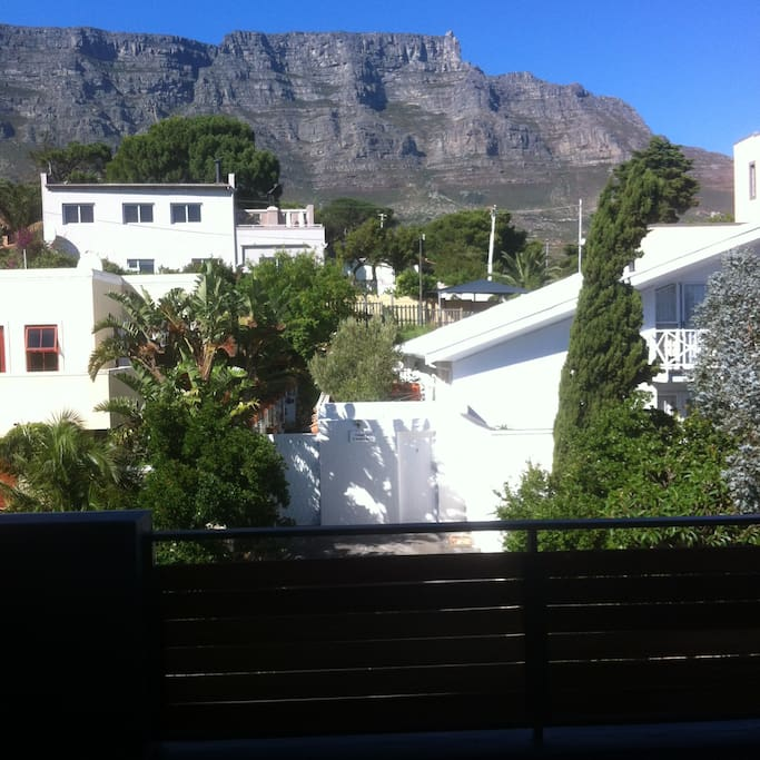 Panoramic View on Table Mountain from the open space living area at the first floor.