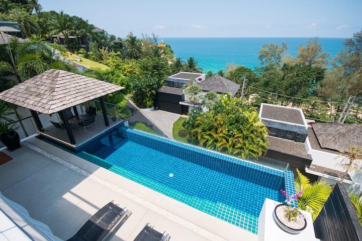 Beautiful 3-Bedroom Seaview Villa at Surin Beach