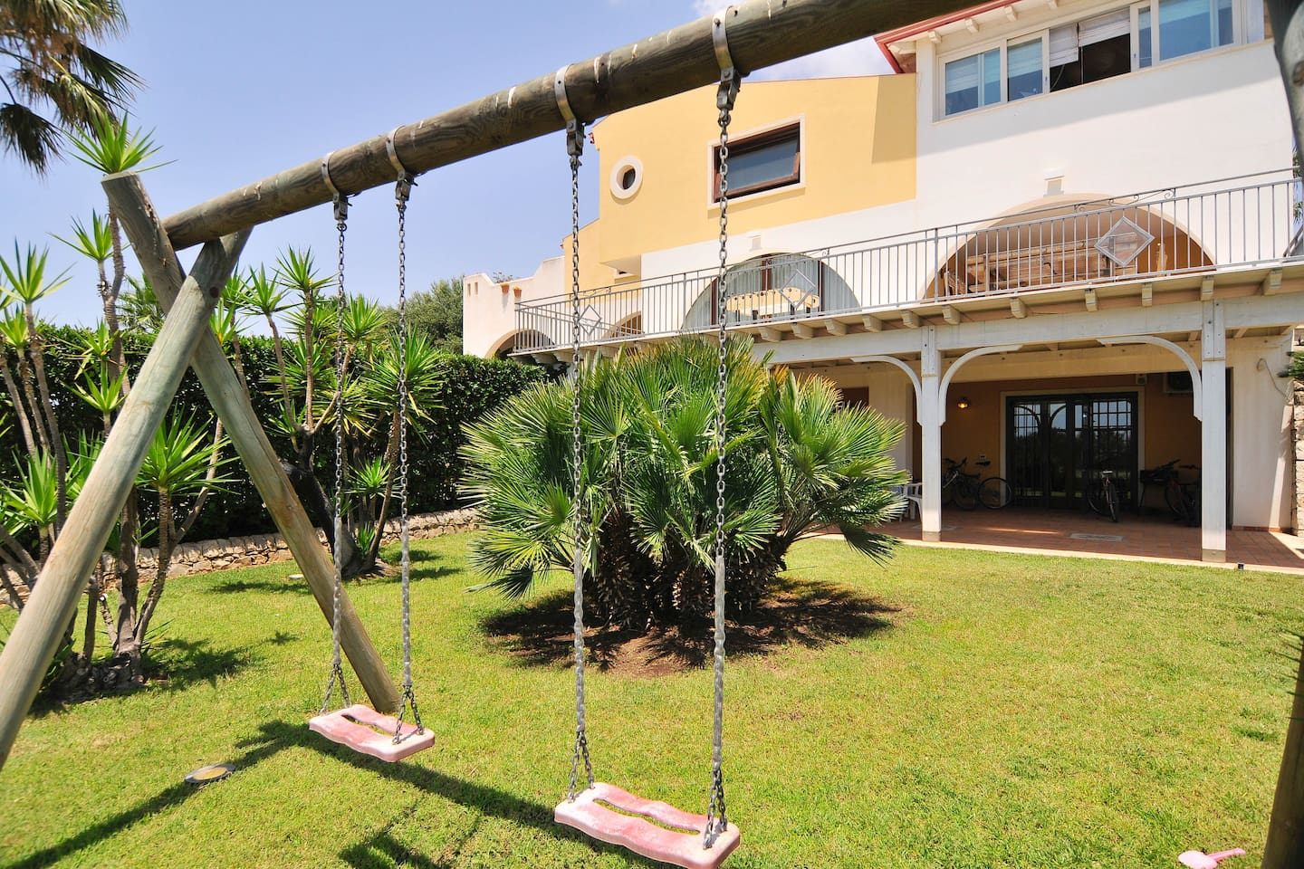 This apartment has a walkout yard and private beautiful porch...