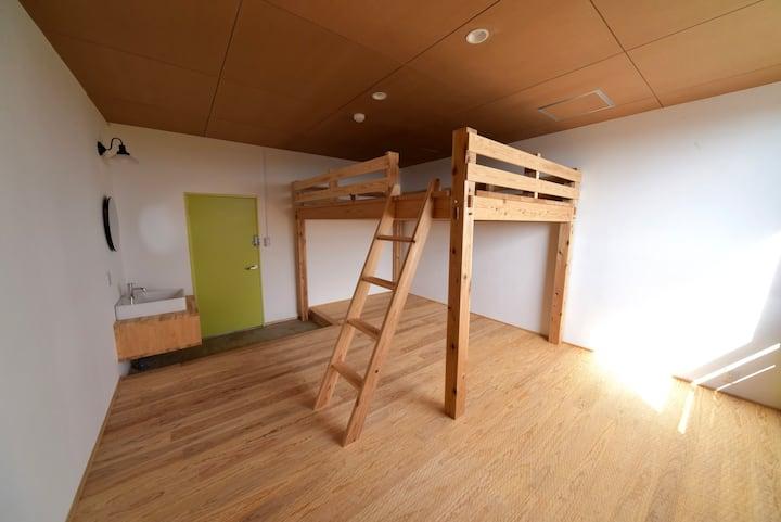 1部屋6名様まで HIKE room no.6 / family room ロフト