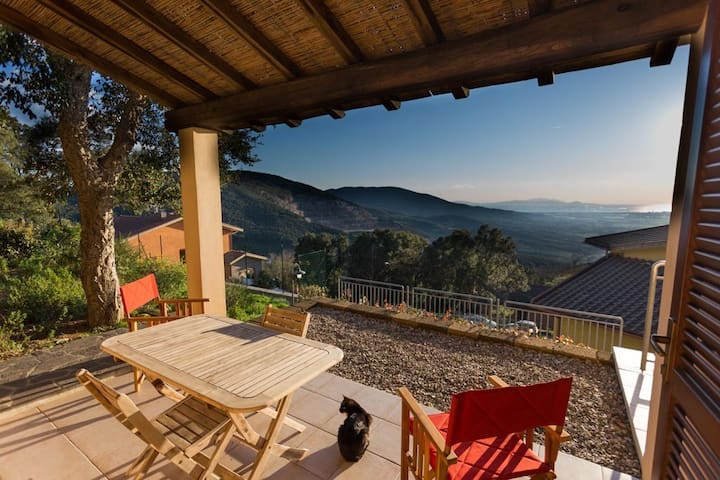 Maremma, in Tuscany, panoramic for2 - Gavorrano - Appartement
