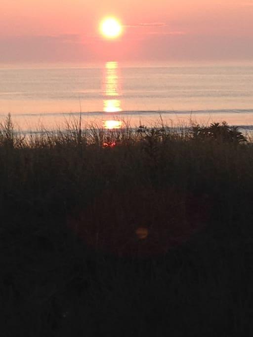 Sunrise on front porch