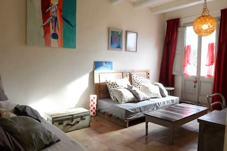 Double room at Artist's House - Camallera