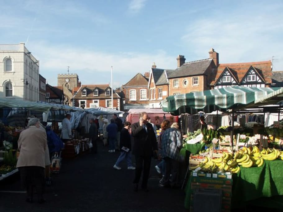 Market Day in Wantage.