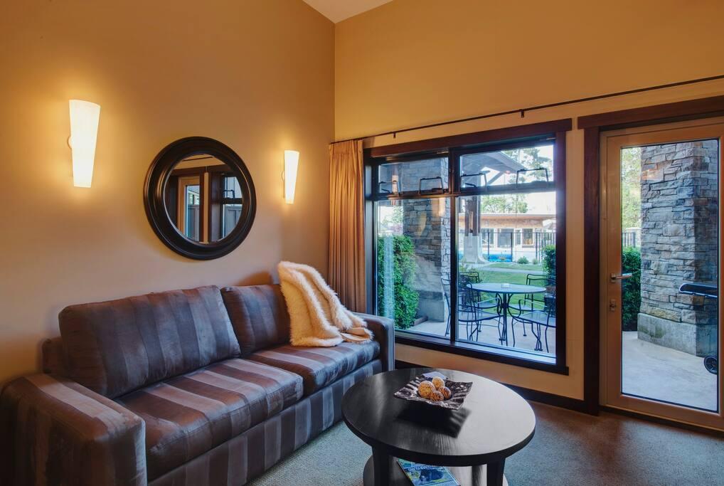 Living Area, Balcony/Patio entrance