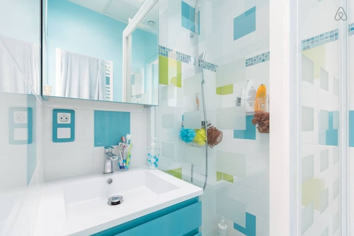 Votre douche privée à l'étage