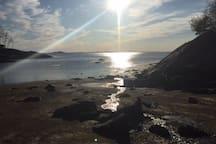 Sunset at Plum Cove Beach