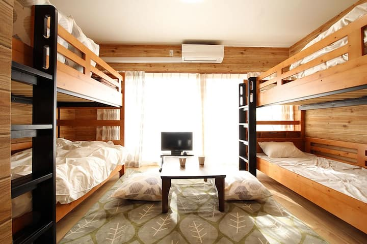 Wood cabin room 205
