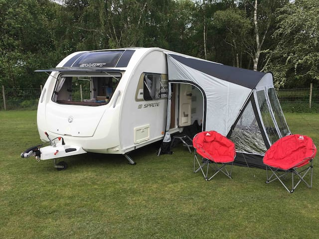 6-bed caravan at Glenmore campsite, the Cairngorms