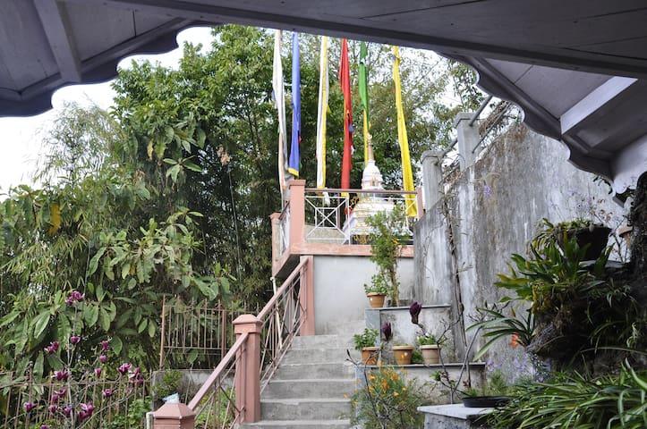 Buddhist Stupa in the compound.