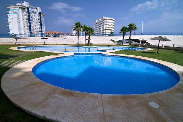 Mediterranean Sea Jacuzzi Pool WiFi A/C La Manga