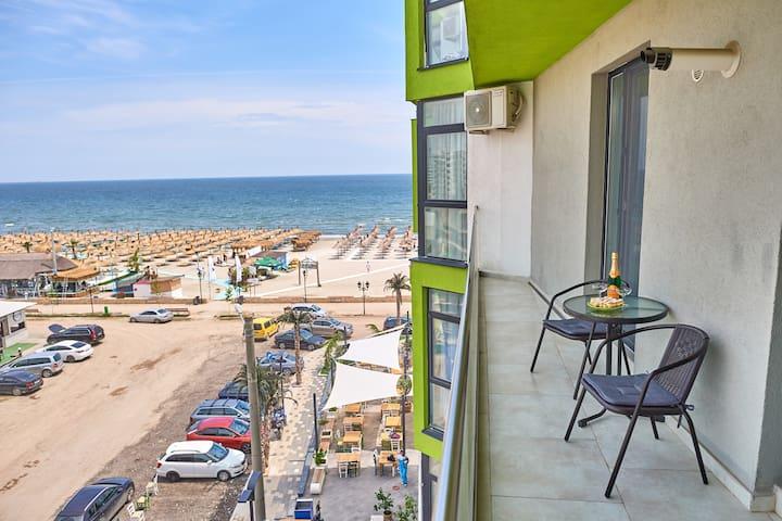 Green ❤️ Sea View apartment Alezzi Resort