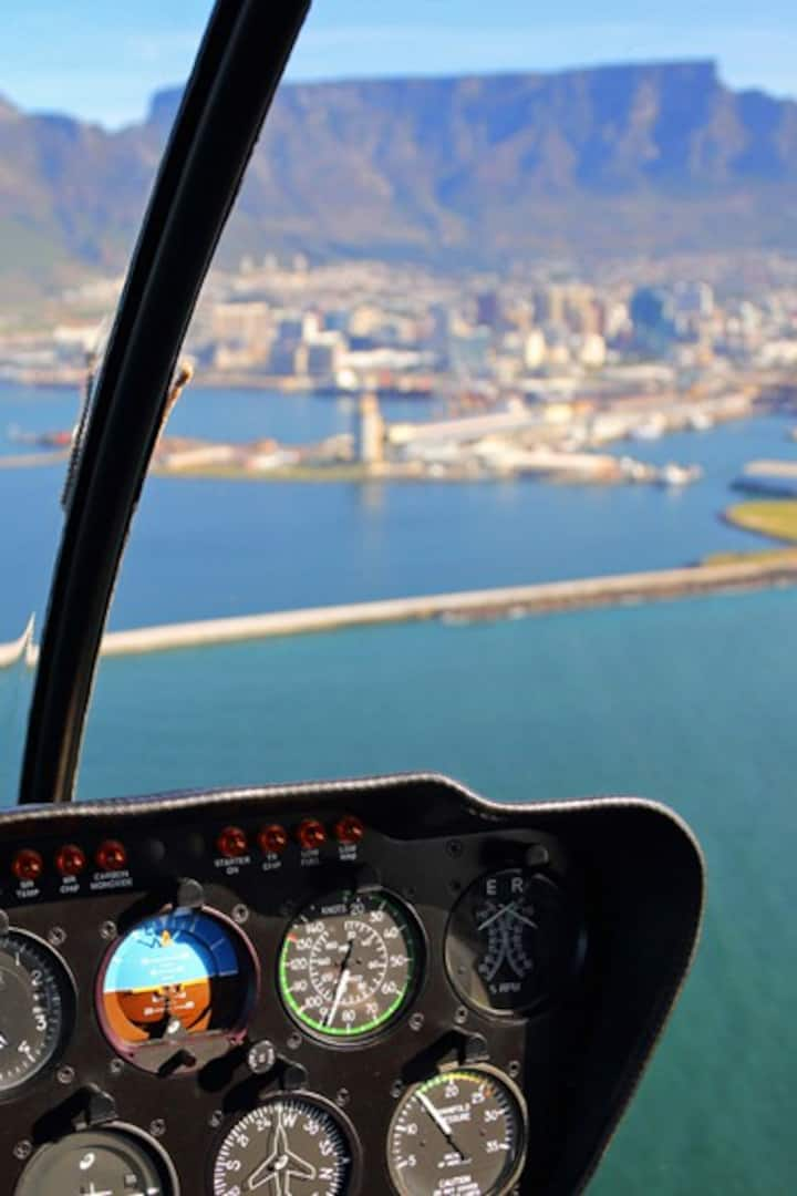 Approaching helipads at V&A Waterfront