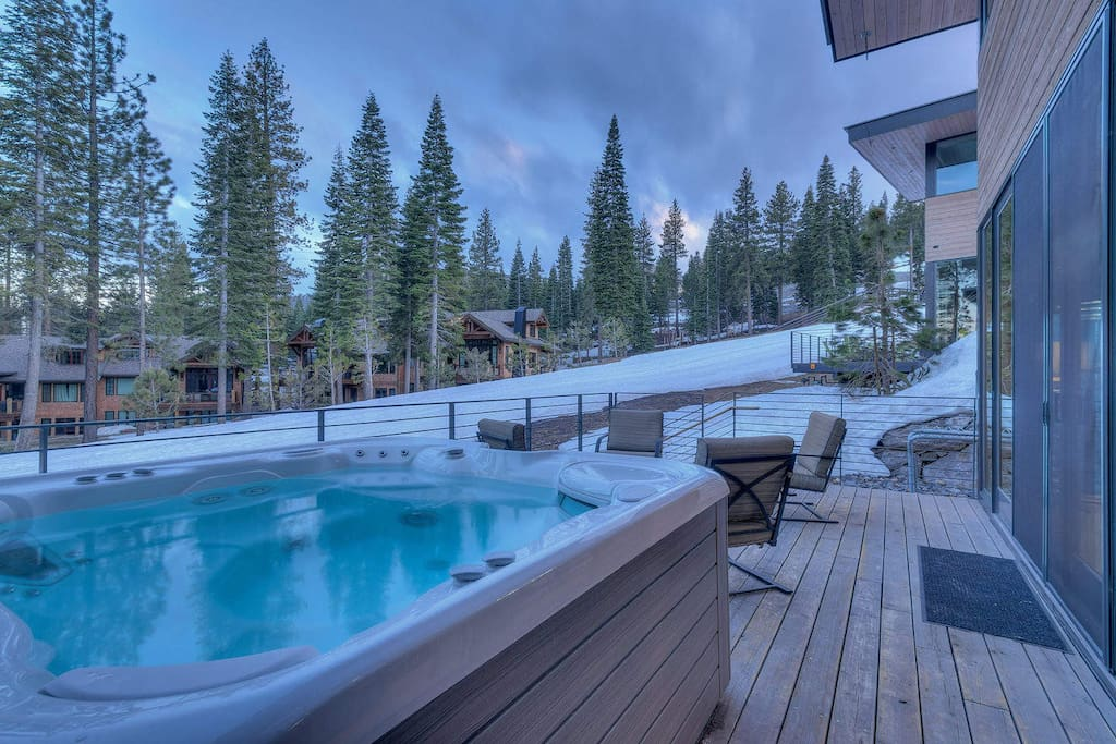 The private hot tub is a nice touch, as you watch all the happy skiers pass you by.