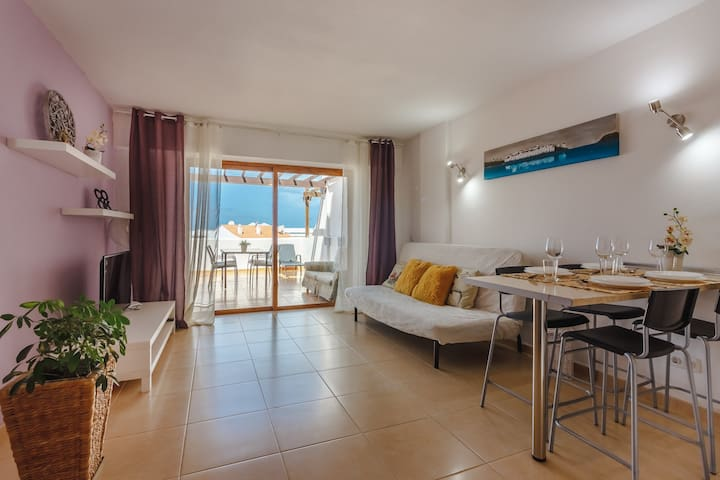 5-1 Costa Adeje, big terrace, sea view, WiFi