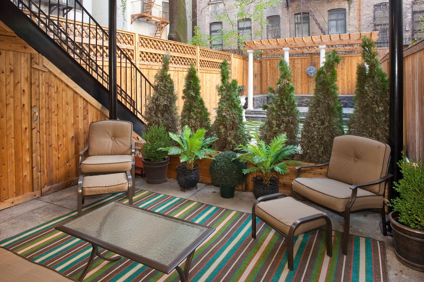 Private Outdoor Space - directly accessible from Bedroom. Perfect for Reading, Relaxing or simply Enjoying your morning Coffee in your own Manhattan oasis...