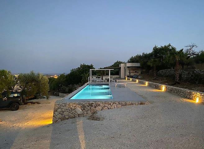 Casetta Romanello - relax sul terrazzo con vista