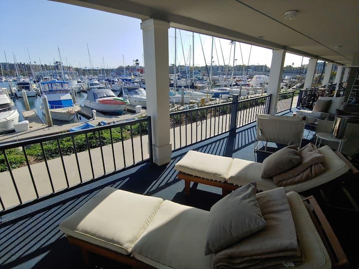 13 Steps,  Condo w/ Patio + Harbor Views!